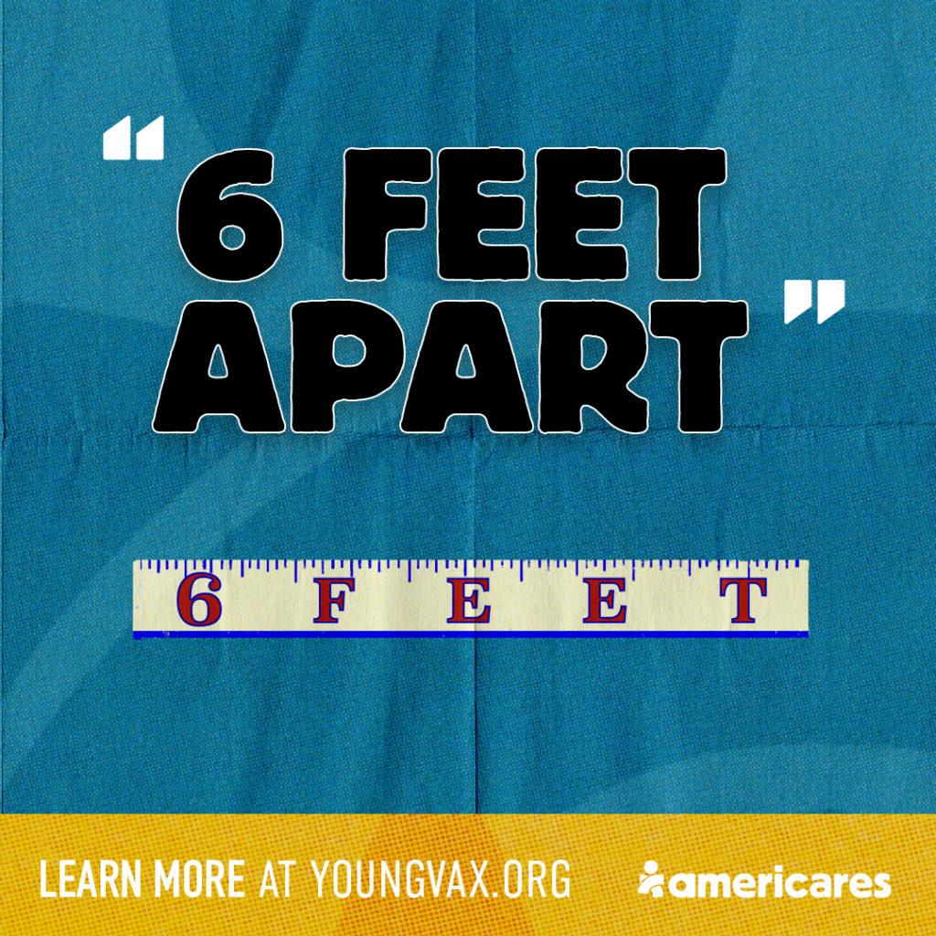 6 Feet Apart Social Banner